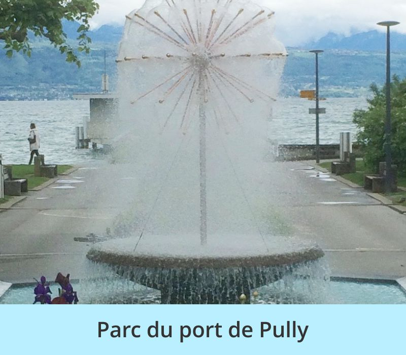 Fontaine du parc du port de Pully